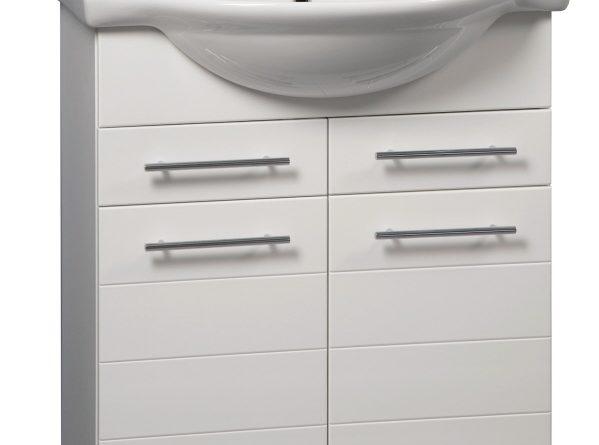 Bílá koupelnová skříňka