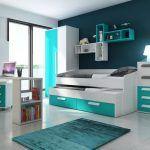 Modrý pokoj pro kluka teenagera