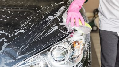 Mytí aut v Praze