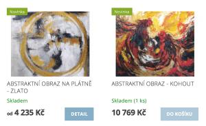 Abstraktní obrazy z eshopu www.obrazyzbali.cz