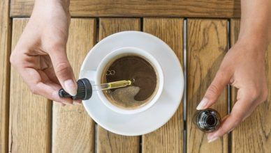 CBD olej v kafi